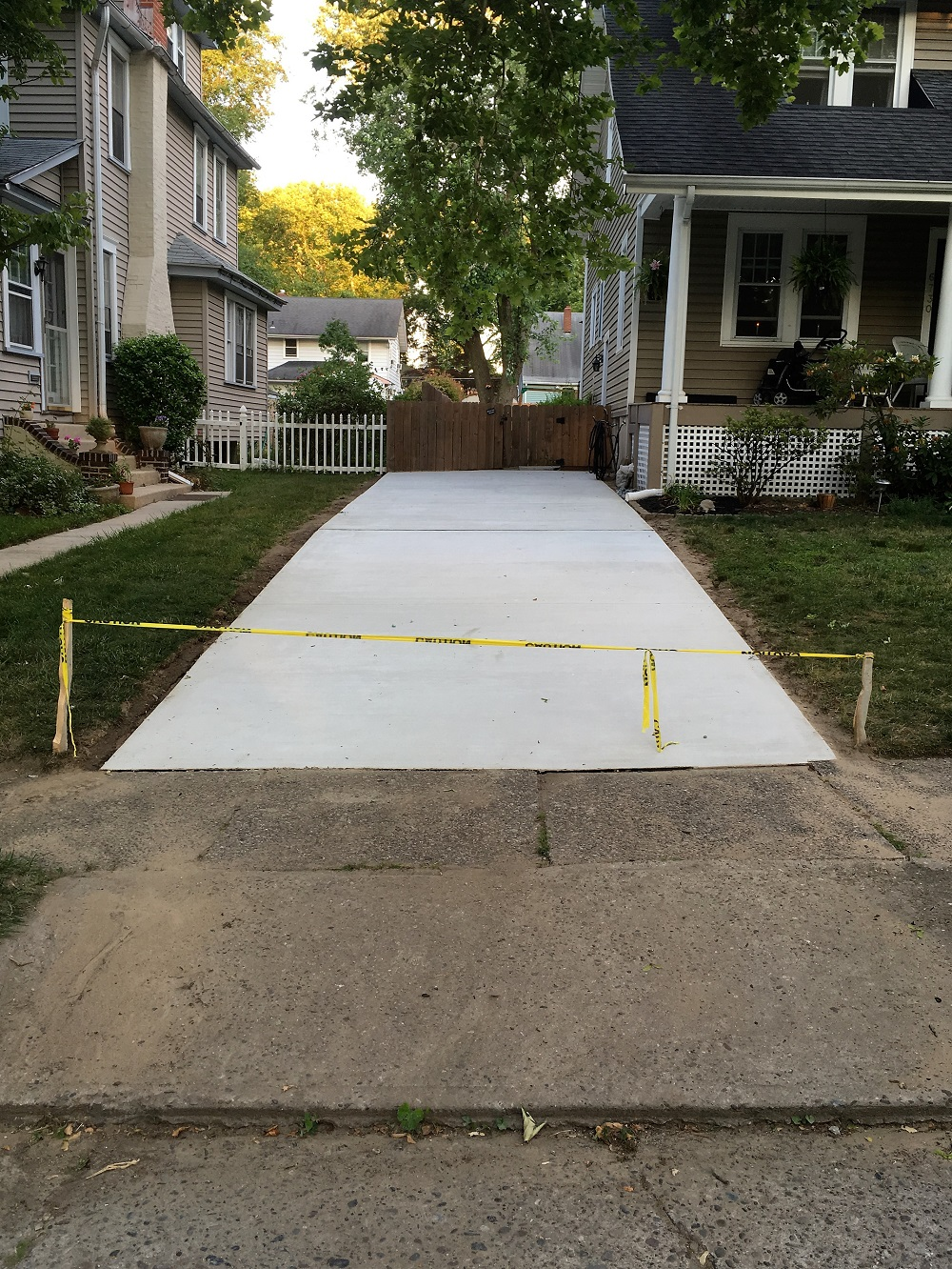 Nj concrete work 39 s services slabs driveways patios repair for New driveway ideas