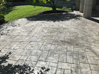 Ashlar Cut Stamped Patio in Pewter Grey